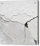 Cracked Stucco Acrylic Print
