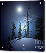 Crater Lake Midnight Oregon Acrylic Print