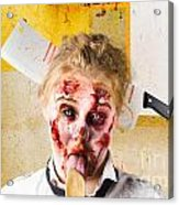 Crazy Sick Monster Eating Gmo Food Acrylic Print