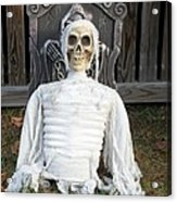 Creepy Skulled Mummy Acrylic Print