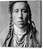 Crow Indian Man Circa 1908 Acrylic Print by Aged Pixel