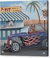Cruizin' At Da L.a. Pit Acrylic Print