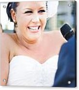 Crying And Laughing Bride Acrylic Print