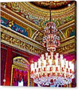 Crystal Chandelier In Dolmabache Palace In Istanbul-turkey  Acrylic Print
