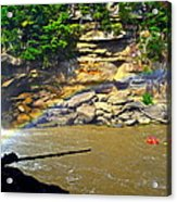 Cumberland Falls Rainbow Acrylic Print by Frozen in Time Fine Art Photography