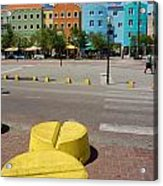 Curacaos Colorful Architecture Acrylic Print