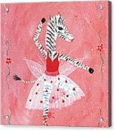 Custom Child's Zebra Ballerina Acrylic Print by Kristi L Randall