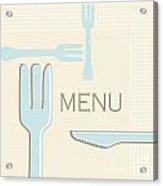 Cutlery Acrylic Print