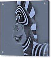 Cyan Zebra Acrylic Print