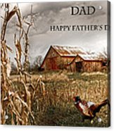 Dad Happy Father's Day Acrylic Print
