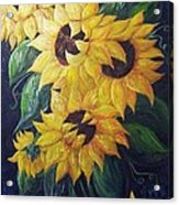 Dancing Sunflowers  Acrylic Print