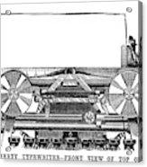 Daugherty Typewriter, 1895 Acrylic Print