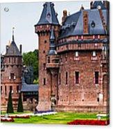 De Haar Castle. Utrecht. Netherlands Acrylic Print by Jenny Rainbow