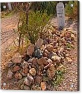 Dead In Tombstone Acrylic Print