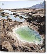 Dead Sea Sinkholes  Acrylic Print by Eyal Bartov