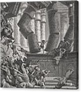 Death Of Samson Acrylic Print by Gustave Dore