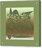 Delicate Green Stroke Acrylic Print