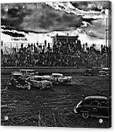 Demolition Derby Rain Storm Clouds Tucson Arizona 1968 Acrylic Print