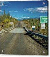 Denali Highway, Route 8, Bridge Crosses Acrylic Print