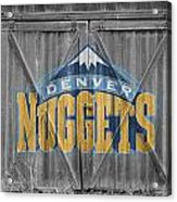 Denver Nuggets Acrylic Print by Joe Hamilton