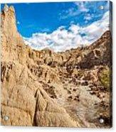Desert And Blue Sky Acrylic Print