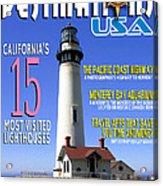 Destinations Usa Faux Magazine Cover Acrylic Print