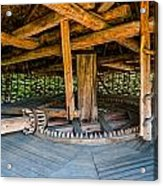 Detail Of A Typical Ukrainian Antique Mill Acrylic Print