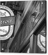 Detroit Beer Company  Acrylic Print