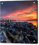 Dewey Beach Sunset Acrylic Print