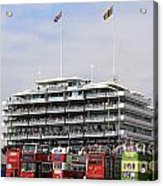 Diamond Jubilee Weekend At The Derby Horse Race On Epsom Downs  Acrylic Print