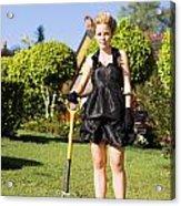 Do It Yourself Gardening Lady Acrylic Print