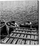 Dock At Island Lake Acrylic Print