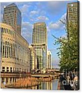 Docklands London Acrylic Print
