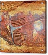 Dodge In Rust Acrylic Print