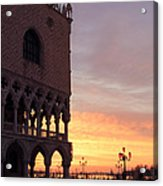 Doges Palace At Sunrise Venice Italy Acrylic Print