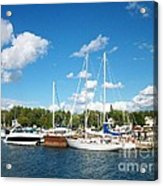 Door County Harbor Acrylic Print