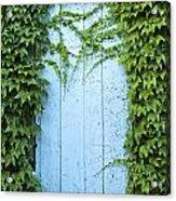 Door Framed By Plants Acrylic Print