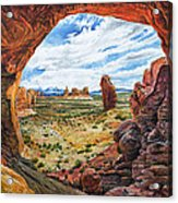 Double Arch Acrylic Print by Aaron Spong