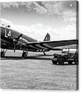 Douglas C-47a Skytrain Ready For D-day Acrylic Print