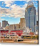 Downtown Cincinnati Pano1 Acrylic Print