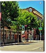 Downtown Pullman Washington Acrylic Print