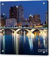 Downtown Skyline Of Columbus Acrylic Print