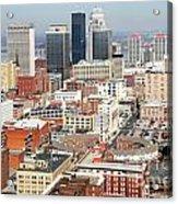 Downtown Skyline Of Louisville Kentucky Acrylic Print