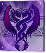 Dragon Duel Series 4 Acrylic Print