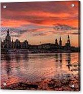 Dresden Sunset Acrylic Print