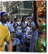 Drummer Team Performing At The 2009 Cleansing Of 46th Street Acrylic Print