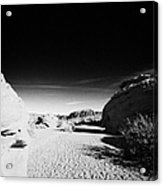 Dry River Bed Between Beehives Sandstone Formations In Valley Of Fire State Park Nevada Usa Acrylic Print