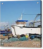 Dungeness Fishing Boats Acrylic Print