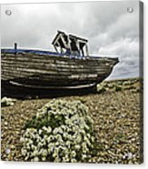 Dungeness Acrylic Print by Lesley Rigg