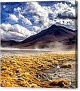 Dusty Desert Road Bolivia Acrylic Print